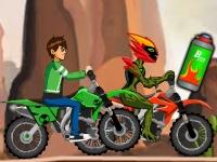 Флеш игра Бен 10: Чемпионская гонка на мотоциклах