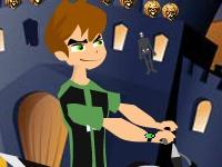 Флеш игра Бен 10: Гонка на Хэллоуин