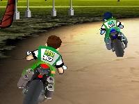 Флеш игра Бен 10: Гонка на байках 3D