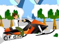 Флеш игра Бен 10: Гонка на снегоходе