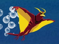 Флеш игра Бен 10: Лучистый на глубине