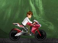 Флеш игра Бен 10: Мото гонка