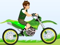 Флеш игра Бен 10: Мотокросс