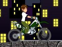 Флеш игра Бен 10: Поездка на мотоцикле 2