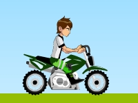 Флеш игра Бен 10: Поездка на мотоцикле
