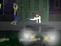 Флеш игра Бен 10: В окружении зомби