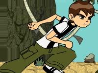 Флеш игра Бен 10: Вверх по водопаду