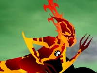Флеш игра Бен 10 и Человек-Огонь