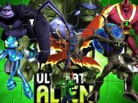 Флеш игра Бен 10 и космические супергерои: Пазл