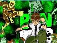 Флеш игра Бен 10 и супергерои: Пазл