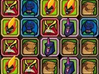 Флеш игра Бен 10 и супергерои: Три в ряд