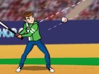 Флеш игра Бен 10 играет в бейсбол