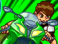 Флеш игра Бен 10 на байке: Ремикс