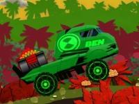 Флеш игра Бен 10 на грузовике с бомбой