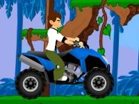 Флеш игра Бен 10 на квадроцикле в джунглях