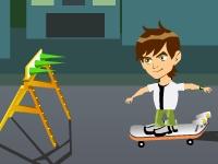 Флеш игра Бен 10 на реактивном скейте