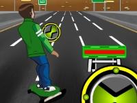 Флеш игра Бен 10 на скейтборде