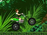 Флеш игра Бен 10 на сломанном байке в джунглях