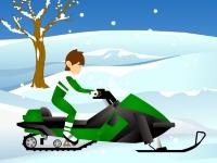 Флеш игра Бен 10 на снегоходе