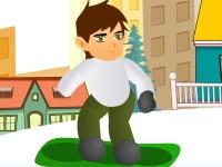 Флеш игра Бен 10 на сноуборде