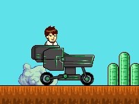 Флеш игра Бен 10 на странной машине