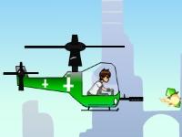 Флеш игра Бен 10 на вертолете
