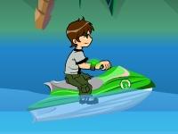 Флеш игра Бен 10 на водном мотоцикле