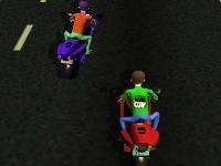Флеш игра Бен 10 преследует врагов на мотоцикле