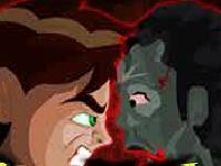 Флеш игра Бен 10 против зомби