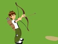 Флеш игра Бен 10 стреляет из лука