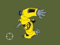 Флеш игра Бен 10 стреляет по роботам