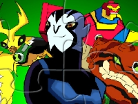 Флеш игра Бен 10 - супергерои: Пазл