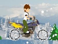 Флеш игра Бен 10 в горах на мотоцикле