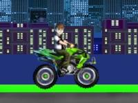 Флеш игра Бен Тен: Гонка на квадроцикле