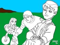 Флеш игра Бен Тен и друзья: Раскраска