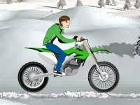 Флеш игра Бен Тен на байке по снегу