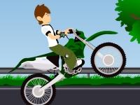 Флеш игра Бен Тен на мотоцикле