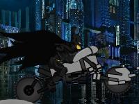 Флеш игра Бэтмен на байке на мосту Готэм Сити