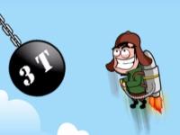 Флеш игра Безумец с реактивным ранцем