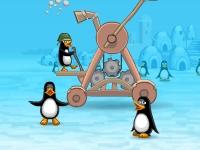 Флеш игра Безумная катапульта пингвинов