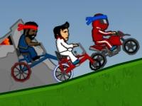 Флеш игра Безумные гонки на велосипедах 2