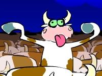 Флеш игра Безумные коровы