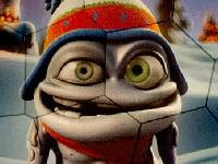 Флеш игра Безумный лягушонок: Пазл