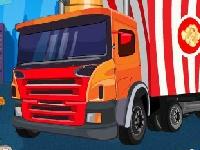 Флеш игра Битва грузовиков с гамбургерами