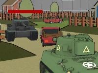 Флеш игра Битва танков в городе