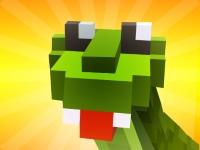 Флеш игра Блочные змейки 3D