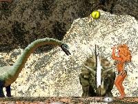 Флеш игра Блондинки против динозавров: Воллейбол