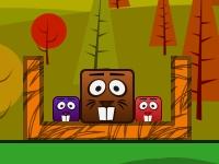 Флеш игра Бобры и блоки: Дополнительные уровни