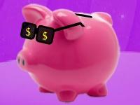 Флеш игра Богатая свинка