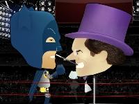 Флеш игра Бокс с Бэтменом